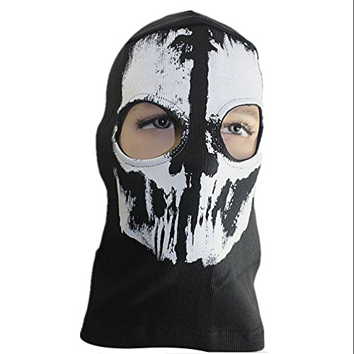 Rubility Unisex Ghost Skull Balaclavas Skiing Airsoft Paintball Game Cosplay Mask Halloween Party (Really Scary Halloween Costumes For Kids)