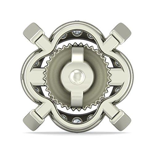 18K Or Blanc 0,22CT TW White-diamond (IJ | SI) et iolite Boucles d'oreille à tige