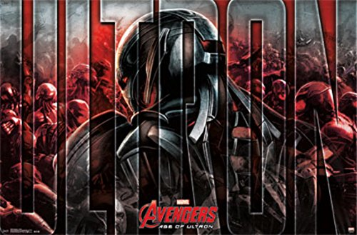 """Marvel Comic Heroes (Avengers 2-Ultron) 22"""" X 34"""" Color Art Print Wall Poster"""