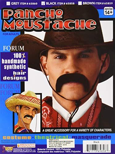 Pancho Villa Mustache (Forum Novelties Men's Handmade Pancho Villa Mustache, Black, One)