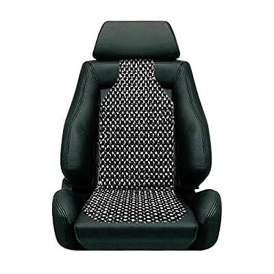 Custom Autos Black Wooden Beaded Cushion Car Seat Cover
