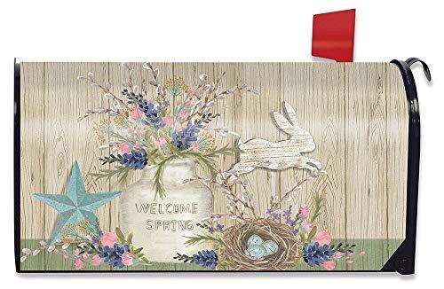 Briarwood Lane Gifts of Spring Primitive Magnetic Mailbox Cover Floral Mason Jar Standard