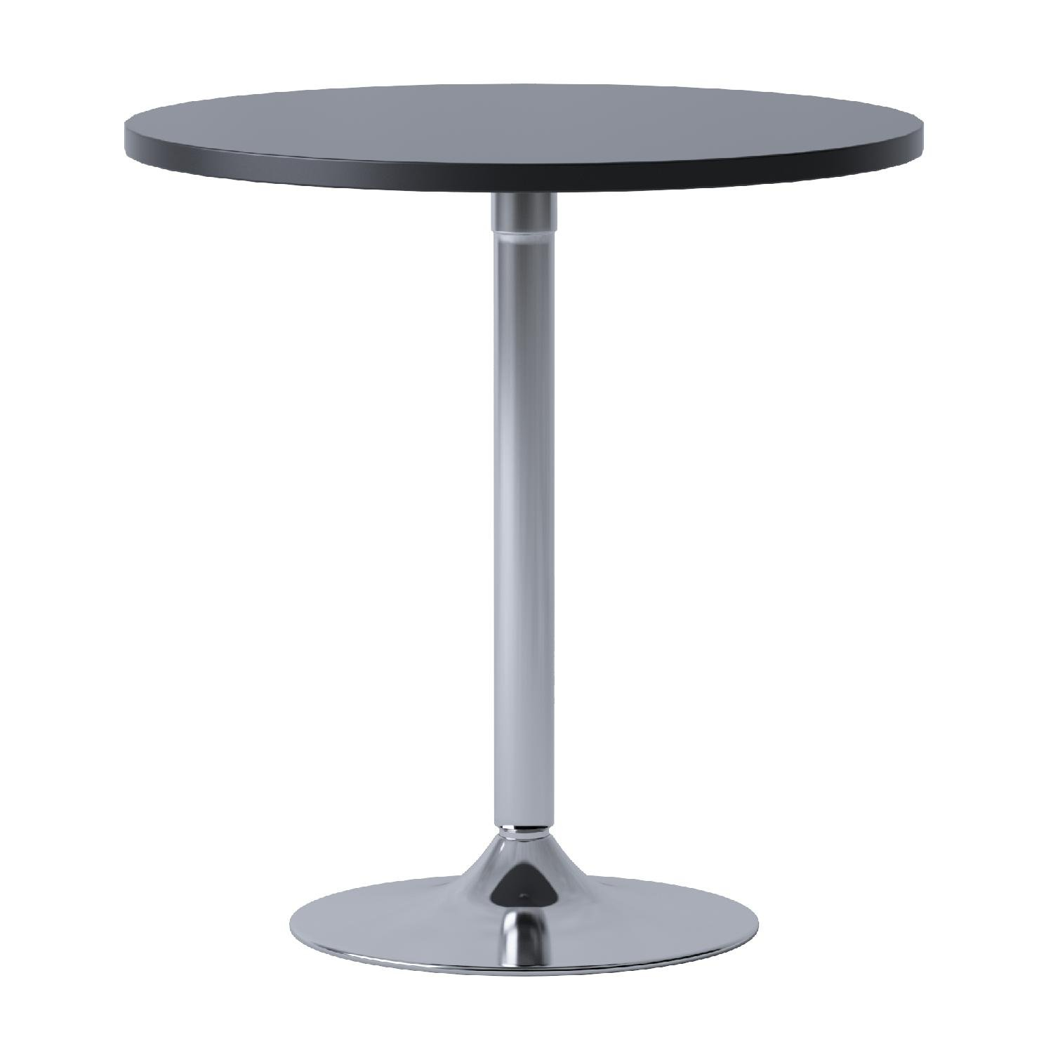 Winsome Wood 29'' Round Dining Table; Black w/Metal Leg