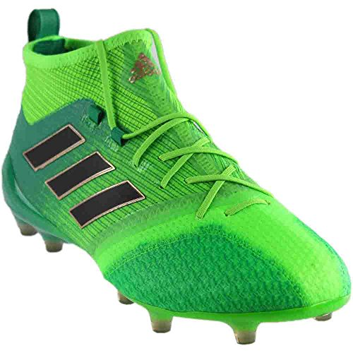 adidas Men's ACE 17.1 PRIMEKNIT FG Soccer Cleats (Sz. 10.5) Solar Green (Green Cleats Soccer Adidas)