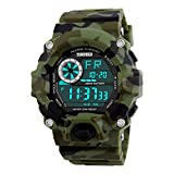 BesWLZ Multi Function Military Sports Watch LED Analog Digital Waterproof Alarm Green