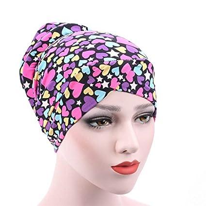 Dxlta Pañuelo de mujer - Sombrero Gorros Musulmanes Hijab Underscarf Sombreros Algodón Moda