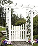 New England Fairfield Arbor with Trim and Gate