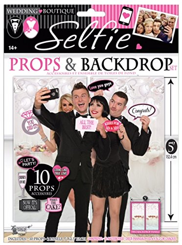 wedding-selfie-photo-booth-props-and-backdrop-set-of-10-props-by-express-novelties-online