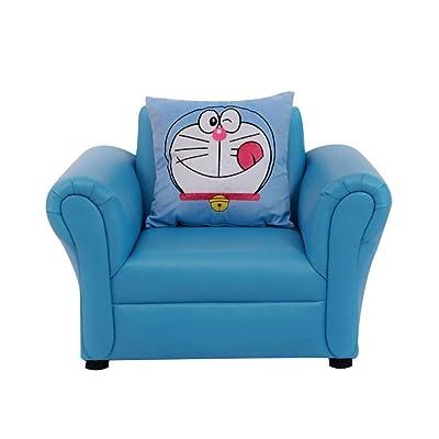 YouYou-YC Asiento for sofá for niños, Dibujos Animados con Respaldo Alto, Marco de Madera, sillas for niños, Antideslizante a Prueba de Agua, Adecuado for niños de 2 a 8 años, Rosa Azul (Color : A): Hogar