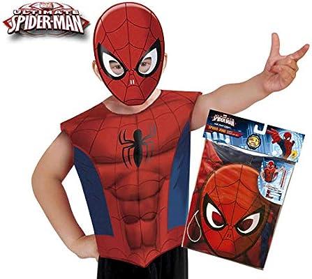 Marvel - Disfraz de Spiderman set de fiesta camiseta + máscara ...