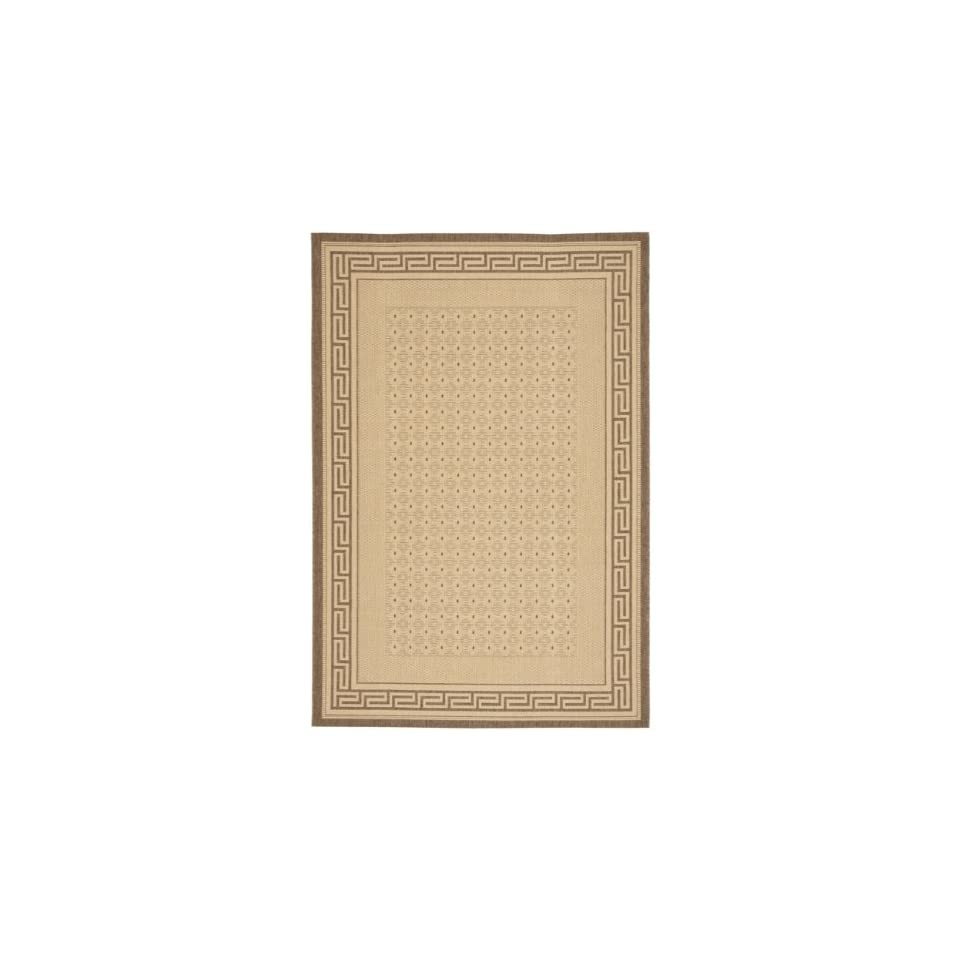 Courtyard CY1927 3001 Indoor Outdoor Natural/ Brown Rug (53 x 77)