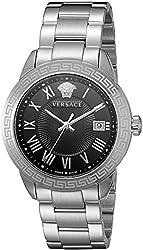 Versace Men's P6Q99GD008 S099 Pair Analog Display Quartz Silver Watch