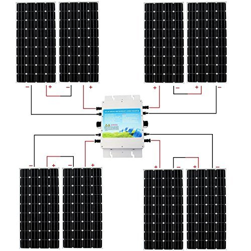 ECO-WORTHY-Complete-300w-500w-600w-800w-1000w-1kw-Grid-Tie-Off-Grid-Solar-Panel-Kit-Solar-System