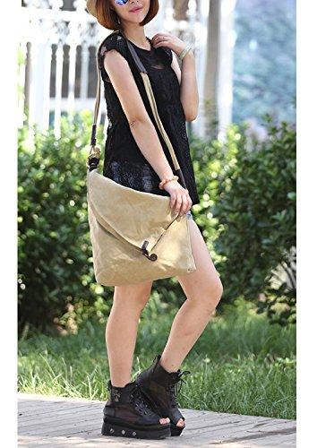 Bolso de Sencillo Tela Color Bolso Beige Mujer Chicas Bolso para Casual de Lona Naranja Playa Moonsister Retra Compras Mano Bandolera Grande de Viajar Puro Fabric de qfwnXdY
