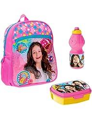 Backpack Set Soy Luna Disney Bundle School Bag Luchbox Bottle