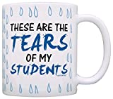 Teacher Gifts Tears of my Students Funny Coworker Gag Gift Coffee Mug Tea Cup Tear Drops