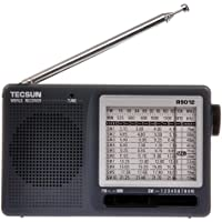 Tecsun R-9012 AM/FM/SW 12 Bands Shortwave Radio Receiver Gray