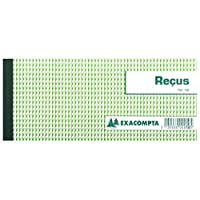 EXACOMPTA Lot de 5 Carnets à souche Reçus 90 x 130 mm 50 feuillets