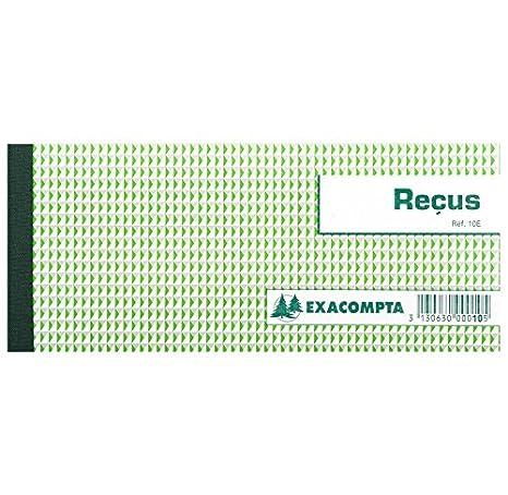 EXACOMPTA Lot De 3 Carnets A Souche Recus 90 X 130 Mm 50 Feuillets