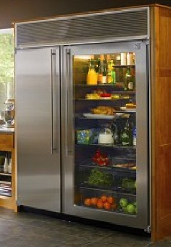 Exceptionnel Built In Side By Side Refrigerator With Stainless Steel Interior, Automatic  Ice Maker And Automatic Defrost: Glass Door W/ Stainless Steel: Appliances