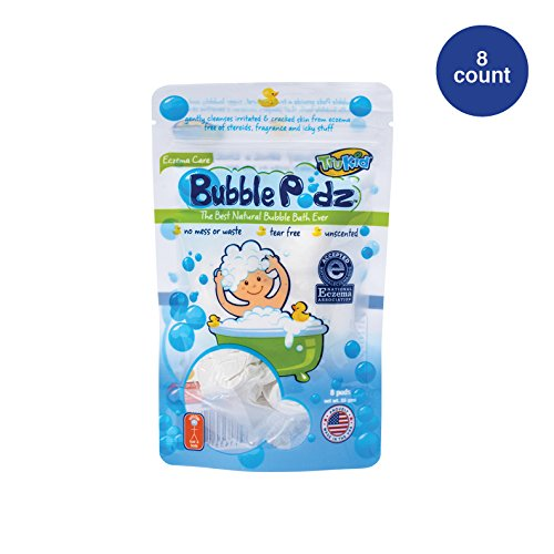 TruKid Eczema Bubble Podz, Natural Bubble Bath with Oatmeal, Aloe & Vit E., Unscented, 8 count