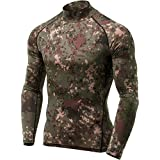 TSLA Men's Thermal Wintergear Compression Baselayer Mock Long Sleeve Shirt