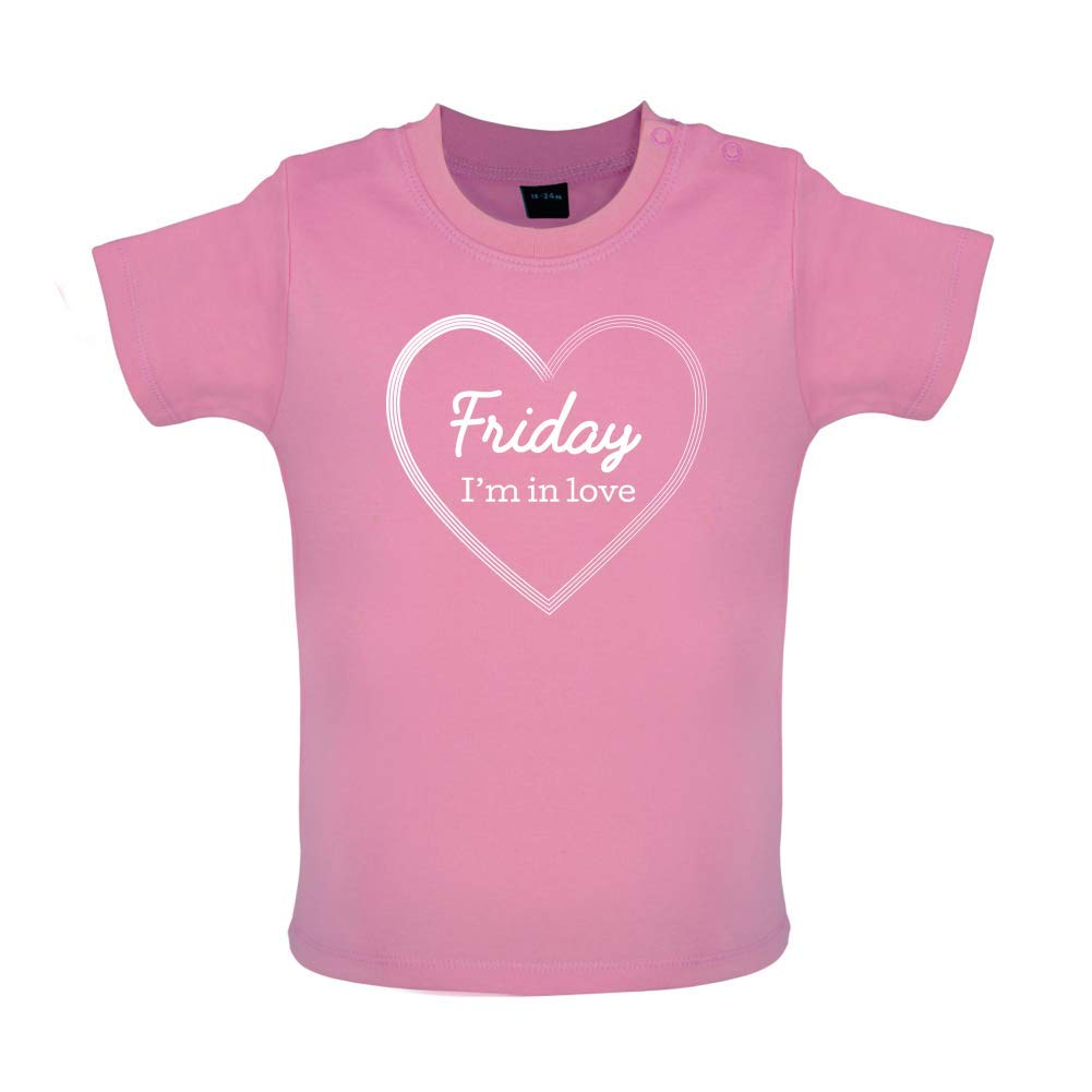 8 Colours Friday Baby T-Shirt 3-24 Months Im in Love