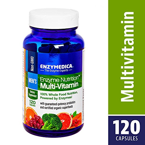 Enzymedica, Enzyme Nutrition Men s Multi-Vitamin, Support for a Healthy Heart, Immune Function and Energy, Non-GMO, 120 capsules 30 servings