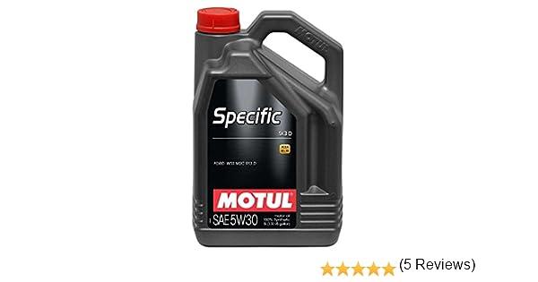 MOTUL Aceite de Motor específico 104560 913D 5 W-30 Aceite de Motor de Baja viscosidad 5 l: Amazon.es: Coche y moto