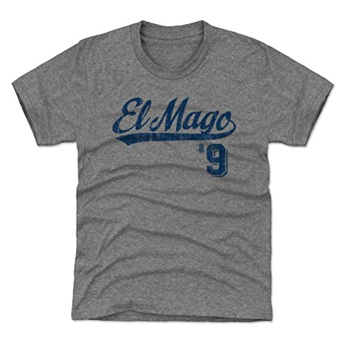 Javy Baez El Mago Youth Shirt Chicago Baseball - Kids X-Small (4-5Y) Tri Gray - Javier Baez Players Weekend B (Shirt Gray Chicago Cubs)