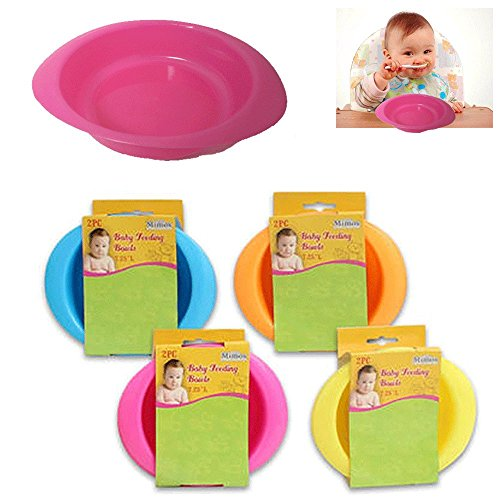 2 Pc Set Bowls Baby Feeding Dish Cereal Children Meal Plate Toddler Food Snack
