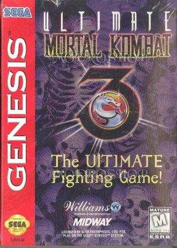 Amazon com: Ultimate Mortal Kombat 3: williams, Sega Genesis