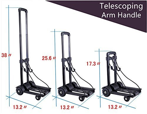 Folding Hand Truck 75 Kg 165 Lbs Heavy Duty Solid