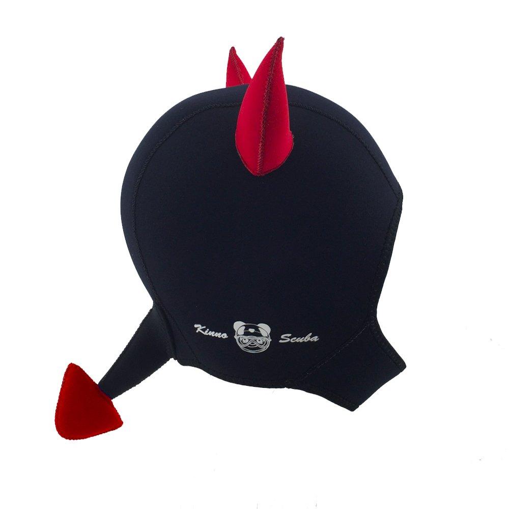 Kinno Scuba Wetsuit Hood, Devil Premium Neoprene 3mm Vented Scuba Diving Hoods for Scuba Diving, Snorkeling, Spearfishing