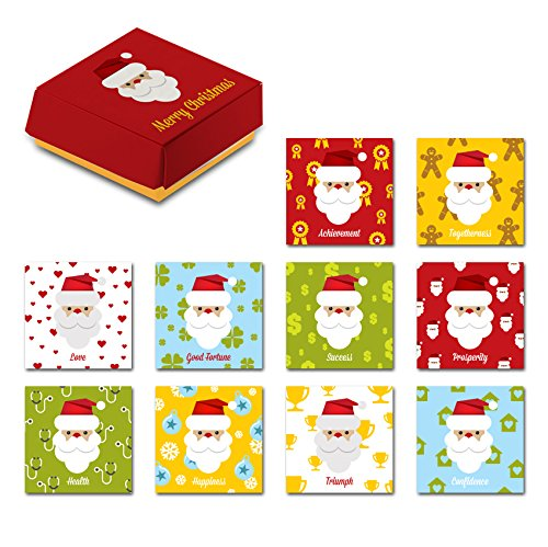 (Santa Claus Christmas Gift Special 10 Piece Refrigerator Magnets Set Comes In A Designed Red Package, The Best Creative Holiday Present Suitable For Kitchen Decoration, White Boards, Fridge And More )