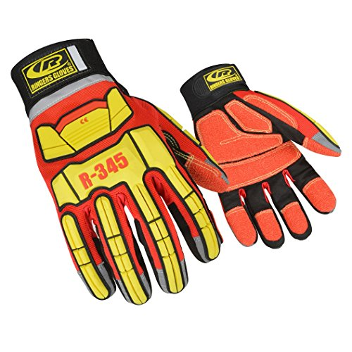 Ringers Gloves 345 Rescue Gloves, Firefighter Extrication Gloves, Medium