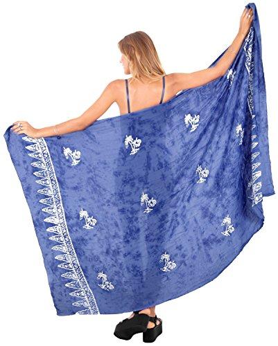 Handmade Casual Wear Dress - LA LEELA Rayon Scarf Long Dress Women Sarong Printed 78