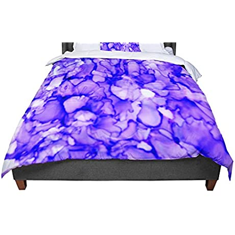 KESS InHouse Claire Day Purple Lavender King Cal King Comforter 104 X 88