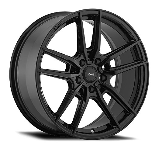 (Konig Myth Gloss Black Wheel with Machined Finish and Milled Spokes (18 x 8. inches /5 x 4 mm, 43 mm Offset))