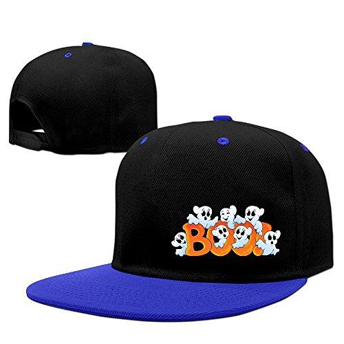 Happy Halloween Hip Hop Baseball Caps Breathable Flat Bill Plain Snapback Hats RoyalBlue (Table Topic Ideas For Halloween)