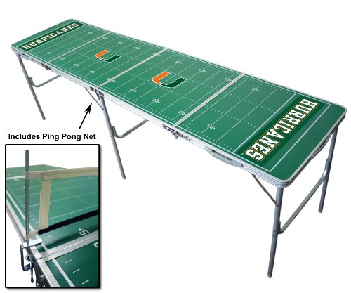 Miami Hurricanes 2x8 Tailgate Table by Wild Sports