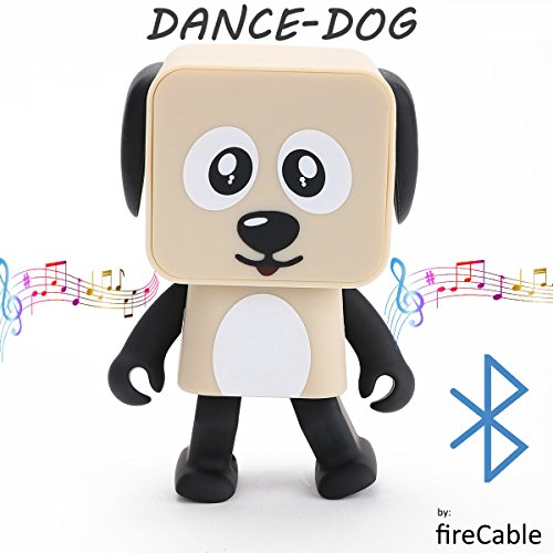 Dance-Dog   Dancing Portable Bluetooth Wireless Speaker (Moves & Shakes to Any Song) by - Cobra Digital