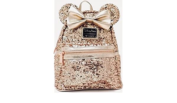 Amazon.com   Disney Loungefly Rose Gold Backpack -SOLD OUT HARD TO FIND--  last one!!-- NEW Minnie Mouse Rose Gold Ears, Disney park   Everything Else df9e849af0
