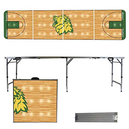(Victory Tailgate NCAA Missouri Southern State University 8'x2' Foldable Tailgate Table with Adjustable Hight and Spill Resistant Sealant - Basketball Court Series )