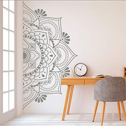 whwd 85X42Cm Half Mandala Wall Decal Vinyl Sticker Headboard Master Bedroom Boho Bohemian Decor Yoga Studio Ornament Decor (Mandala Wall Decal)