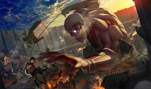 (HiddenSupplies.com Attack on Titan Monster vs MIkasa Playmat)