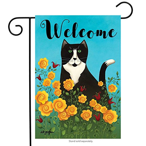 Briarwood Lane Garden Kitty Spring Garden Flag Welcome Primitive Floral 12.5