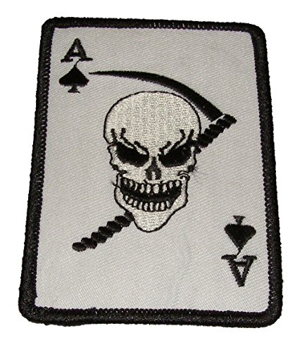 ACE OF SPADES DEATH CARD PATCH - Color - Veteran Owned Business.