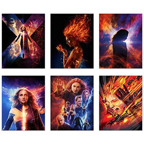 X-Men Dark Phoenix Posters 2019 - Set of 6 (11 inches x 14 inches) Xmen Movie Prints - Sophie Turner as Jean ()