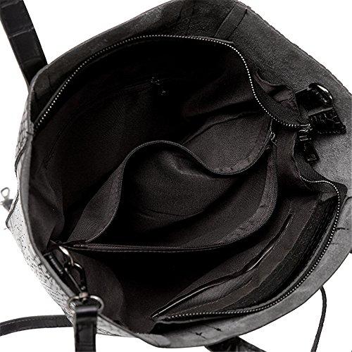 Navetteurs Européens Main Les Des Et Croix De En Pu Sacs Nouveaux black À Noir Américains Fashion Meaeo xw1Rqw